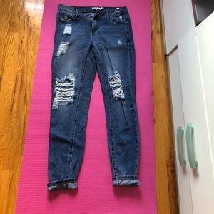 JustFab Boyfriend Jeans Size 25